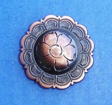 Western Decor (6) Black/Copper Flower Concho's 1 1/2""