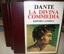 DANTE-COFANETTO TRE VOLUMI CARTONATI-LA DIVINA COMMEDIA-LATERZA 1988-OTTIMO!