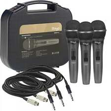 Stagg Professional Dynamic Vocal Microphone Kit 3 Microphones, Holders & Case