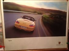 Porsche Boxster Yellow Factory Car Poster Extremely Rare! Own It!!