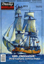 HMS ENDEAVOUR James Cook's Ship - Paper / Card Model Scale 1/100 Maly Modelarz