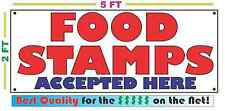 FOOD STAMPS ACCEPTED HERE Banner Sign 4 NEW Business Now OPEN convience store