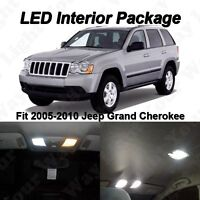 10 x White SMD LED Interior Lights Kit For 2005-2010 Jeep Grand Cherokee WK