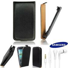 Zeyno Slim Flip Tasche Samsung i9070 Galaxy Advance mit Original Headset EHS64