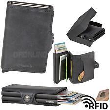 SECRID Vintage Leather Twin Wallet Cardprotector Mens Wallet Cardholder black