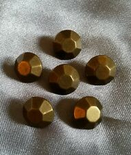 6 x bronze colour steampunk stud style small shanked buttons