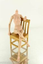 1/6 Model Toy Female Doll Body Can Sit Fit KUMIK HT Head for 12'' Action Figure