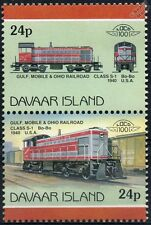 1940 GMO Class S-1 Diesel Gulf Mobile & Ohio Railroad Train Stamps (Davaar)