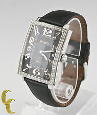Roberto Bianci Stainless Steel Diamond Women's Watch Christmas Holiday Gift!
