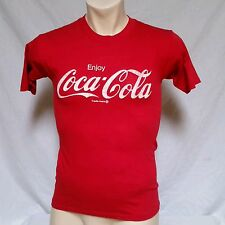 VTG Coca Cola T Shirt 80's Soda Pop 50/50 Thin Original Olympics Red 70's Medium