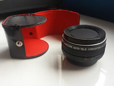 KINOLUXE  AUTO TELE CONVERTER 2X WITH CASE FOR CANON CAMERAS / MADE IN JAPAN