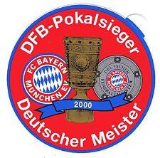 Aufkleber FC Bayern München - DFB-Pokalsieger - Deutscher Meister - 2000 (152)