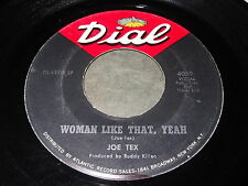 Joe Tex: Woman Like That, Yeah / I'm Going And Get It 45 - Soul