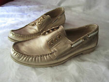 Cole Haan Gold Leather Breezer Boat Shoes Women's Size 7