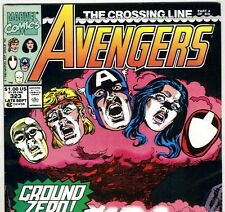 The AVENGERS #323 with Captain America & Vision from Sept 1990 in VF- con. NS