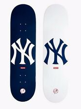 SUPREME x New York Yankees '47 Brand Skateboard Deck Navy camp box logo S/S 15