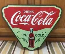 Coca Cola Ice Cold Metal Button Vintage Style Coke Soda Decor Diner Gas Oil