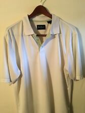 Nat Nast White Polo Shirt 100%Polyester Size XL Very Comfortable