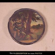 Great 18th Century Lacquer Ware Snuff / Patch Box Hunting Scene