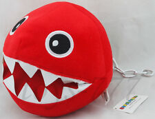Super Mario Bros. Red Chain Chomp 8 inch Plush Toy Nintendo Game Stuffed Animal