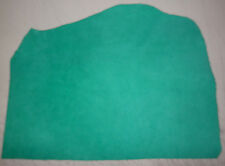 """THIN Turquoise Suede Pigskin Leather Scraps 9""""x19"""" avg .6mm thick  #561"""