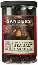 Sanders Dark Chocolate Sea Salt Caramels 36 Ounce Container
