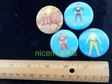Power Rangers Mighty Morphin Novelty accessory item PINBACK BUTTONS lot of 4 C