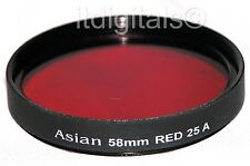 72mm Red Color Glass Coated Lens Filter #25 B&W Film Digital 25A 25-A New 72 mm