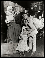 Lewis Hine Photo Immigrant family with kids, 1900s
