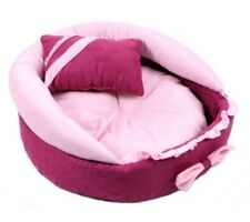 Cute Princess Pink Pet Dog Cat Sofa Bed House +a Pillow Small