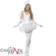 Smiffys Instant Tutu Angel Dress Fancy Dress Costume Kit Christmas Xmas One Size