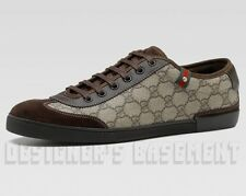 GUCCI Mens 15G* brown Supreme GG Plus suede BARCELONA Sneakers shoes NIB Authent