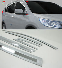 Chrome Window Sun Visor Vent Wind Rain Molding 6p 1Set For 2013-2015 Honda CR-V