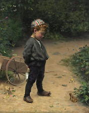 Peel Paul The Young Biologist 1891 Canvas 16 x 20   #4849