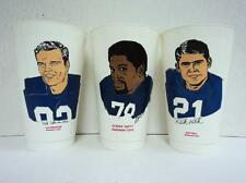 RARE 1973 Lot 3 Colts Rick Volk Bubba Smith Ted Hendricks  7-11 Slurpee Cup