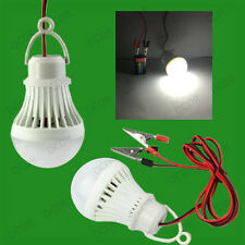3W 12V DC Battery Powered LED Light Bulb & Lamp Works from 9V PP3 Domestic Cells