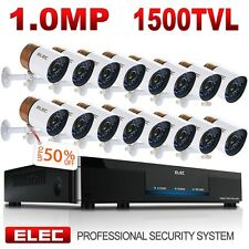 ELEC 16CH 960H HDMI DVR CCTV 1500TVL Home Security Camera System Video Recorder
