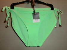 BNWT TOPSHOP APPLE GREEN TIESIDE BIKINI PANTS UK 16 WITH PROTECTION STRIP
