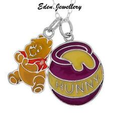 Extremely RARE Disney Couture Winnie the Pooh Sterling Silver Necklace 2 Pendant