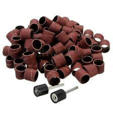 100pcs 1/2'' Sanding Bands Sleeves + 2 Mandrels For DREMEL Rotary Tools Kit