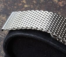 Heavy thick 2.5mm mesh 22mm bracelet for vintage watch Stainless Steel no taper
