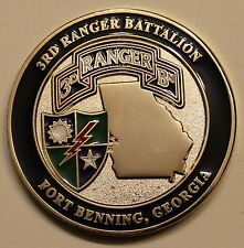 3rd Ranger Battalion Ft Benning Rangers Lead The Way Army Challenge Coin
