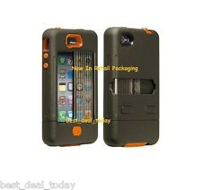 Case-Mate Tank Case& Holster Clip For Apple Iphone 4/4S 4G Military Green Orange