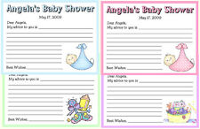 12 PERSONALIZED BABY SHOWER FAVORS ~ ADVICE CARDS