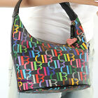 NEW Dooney & Bourke DB Small Bucket Satchel Shoulder Bag Black Multicolor RARE