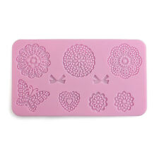 1XSilicone Lace Mat Butterfly Fondant Sugar Craft Mould Cake Decorating Supplies
