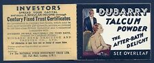 BC3 3/- 1936 Booklet Edition 322 - advert 'Dubarry' Opera House UNMOUNTED MINT