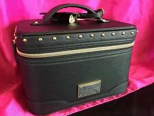 NWT *Victoria's Secret* Black Studded Logo Hard Cosmetic Bag Makeup Train Case