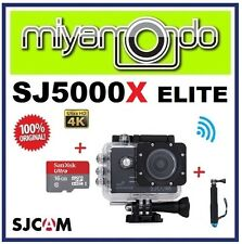 SJCAM Original SJ5000X Elite WiFi Action Camera (Black) + Monopod + microSD 16GB