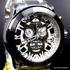 Invicta Corduba Skull Collection Skeletonized Chronograph Steel Black Watch New